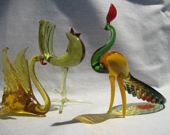 Glass figurines