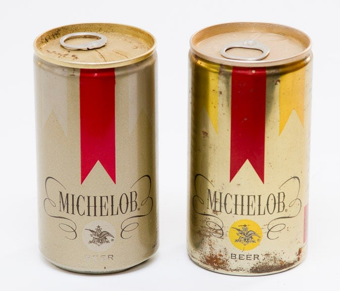 Vintage Michelob Beer Cans by lloydstreasures on Etsy  Vintage Michelo...