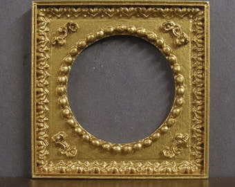 Empty Dollhouse Round Picture Frame ~ Handcrafted ~ Original  Art  Work ~ Not A Copy ~ 1:12 scale ~ Jim Coates