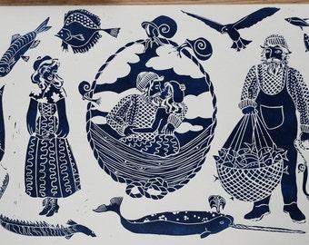 Nautical Love – A4 print