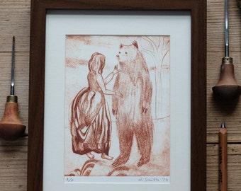 Girl Meets Boy – A4 print