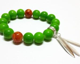 Leaves in green bracelet