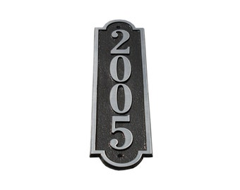 Majestic MFG Aluminum or Brass Alberta Vertical Address Plaques House Numbers ** Made in the USA ** ** Free Shipping**