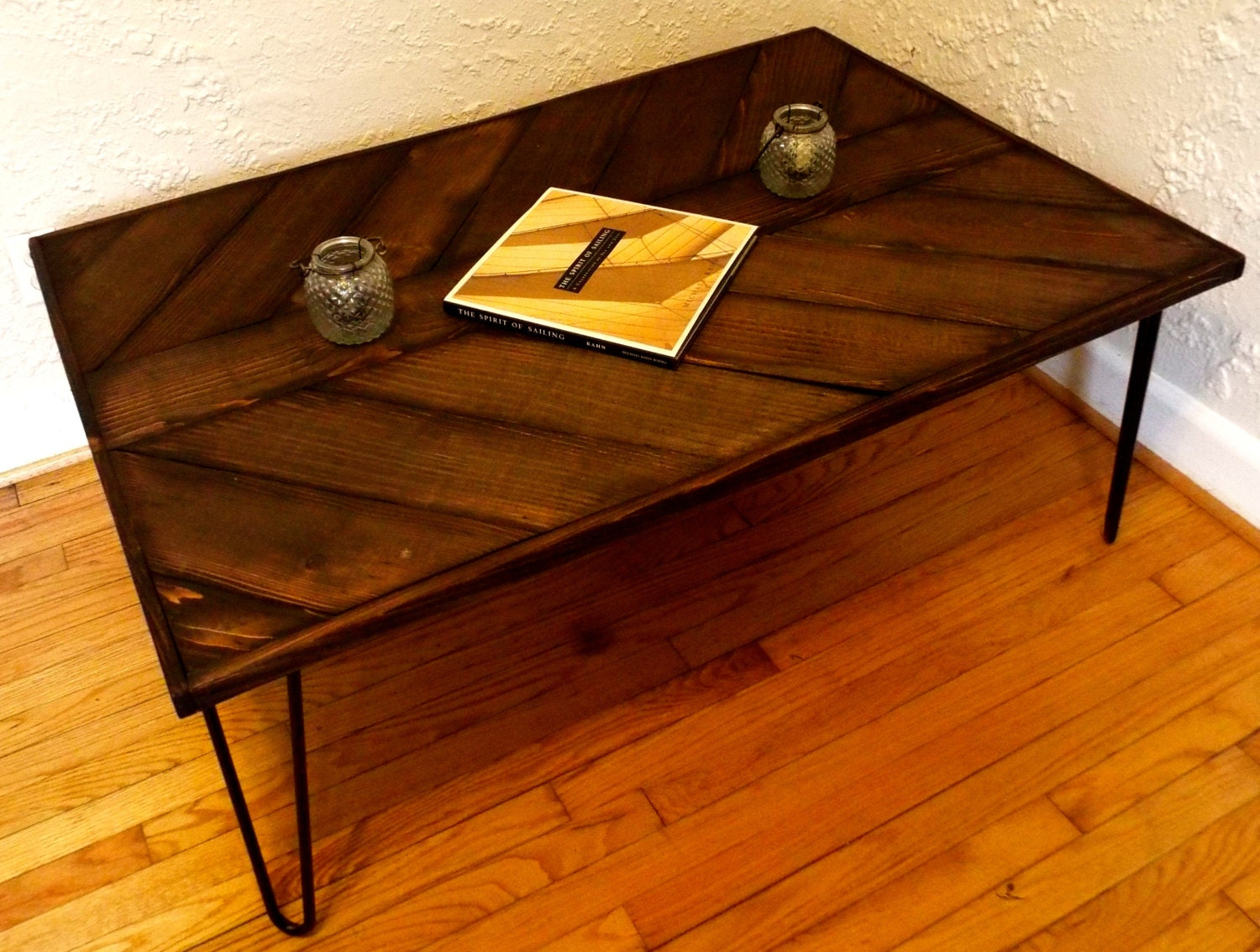 Reclaimed Wood Hairpin Leg Coffee Table By By Hammerfoxfurnishings