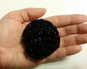 Purple Crochet Brooch