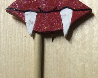 Lips with fangs