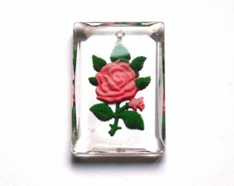 Cristal glass engraved pendent