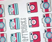 30 Camera Planner Sticker Set