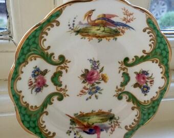 Vintage floral design decorative small trinket dish plate