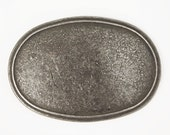 oval die-cast belt buckle blank