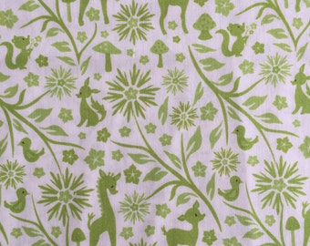 Riley Blake Fabric - Woodland Tails - Green