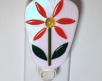 Fused flower night light