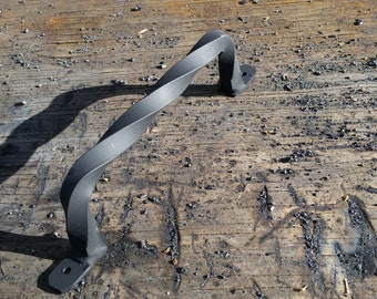 WHOLESALE Hand Forged Welded 1 pair Iron Handles With Full Twist and Matte Finish by ArkoOrnamentalIron