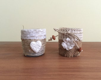 Small Decorated Jars