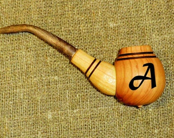 Personalized pipe Smoking pipe carved Tobacco pipe Wooden pipe Smoking pipe carved  Tobacco pipes Smoking pipes Wooden pipes Wood pipe