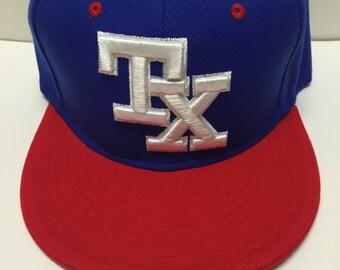 TEXAS RANGERS flat bill/flat brim, flat back baseball hat men/women