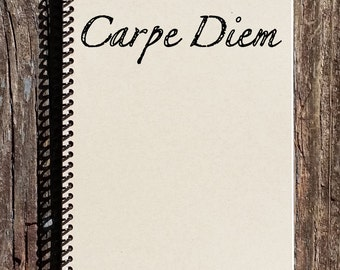 Carpe Diem Notebook - Carpe Diem Journal - Inspirational Quote - Carpe Diem - Journal - Notebook - Diary - Sketchbook
