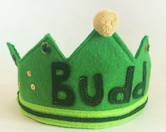 Custom Personalized Felt Crown for children or adult, birthday parties or dress up, Birthday Hat