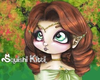 Cute Original Anime/Manga Chibi Drawing Elf Girl