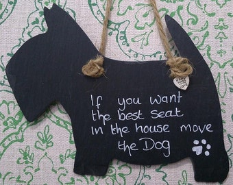 Scottie Dog Natural Slate Handmade For all those Pet Lovers Personalised