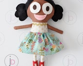 "FAWN - 16"" Cloth Fabric Handmade Doll with Interchangable Eyes & Mouths!"