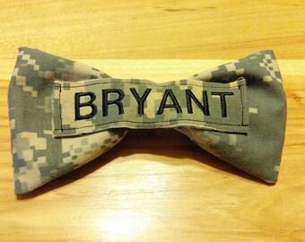Military ACU, Multicam, ABU, NWU, Marpat Name Tape Hair Bow
