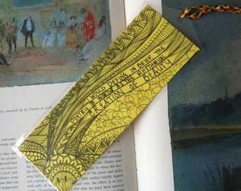 Edgar Allan Poe Zentangle Bookmark (Reproduction Print). 3inx7.5in