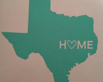 Texas Home Decal, Texas, Home, Texas Decal, Home Decal, Custom Home, States, Yeti Decal