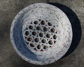 Large Recycled Paper Bowl.