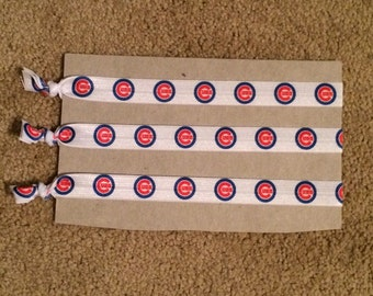 Chicago Cubs Elastic Headbands
