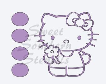PYO Kitty Cookie Stencil