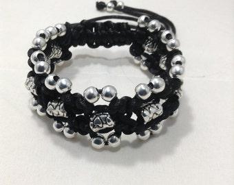 Black tibetan bead bracelet
