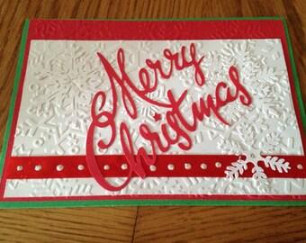 Christmas handmade greeting Card