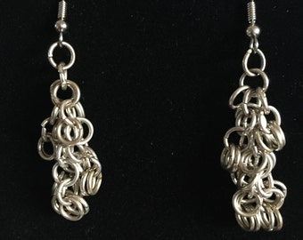 Shaggy Chainmail Earrings