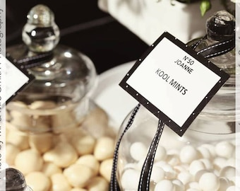 Black & White Buffet Tags for your next party