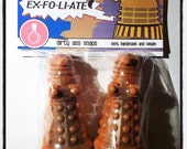 Dalek EXFOLIATE Soap - Vegan Novelty Doctor Who Whovian Tardis Timelord Soaps - Set of Two - Natural Ingredients - SLS free - Cruelty Free