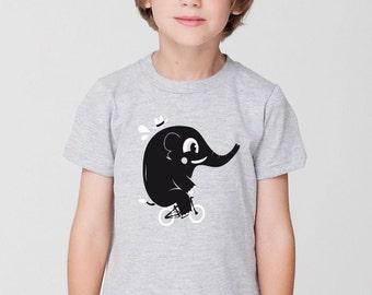 Biking Elephant T-Shirt Kids