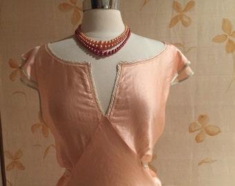 1930s vintage silk satin gown Gatsby