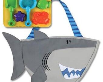 Beach Tote Children's Monogram Stephen Joseph Shark