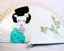 Handfan Geisha / Hand painted Fan