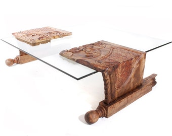 coffee table made out of a old bedframe rustic decor unique piece