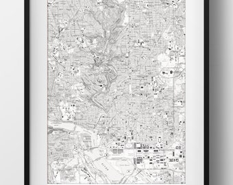 Washington, DC Map Poster 11x17 18x24