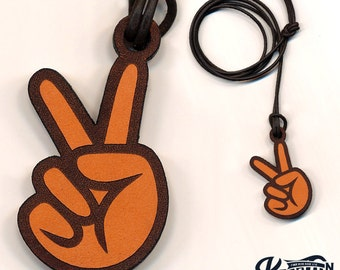 Laser Cut | Peace Hand Necklace / Keychain