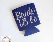 Bride to Be Glitter Monogram Coozie