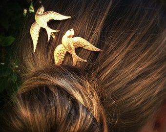 Birds Bobby Pins Sparrow Hair Pins Gold Bird Hair Pins Hair Clips