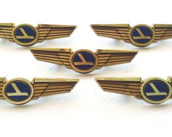 5 Vintage Eastern Airlines Kids Airplane Pilot Wing Pins Badges Party Favors (Featured in Town and Country Magazine)