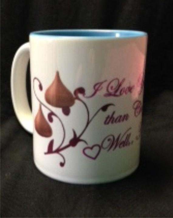Chocolate lovers coffee mug coffee cup 15oz shh custom coffee cup