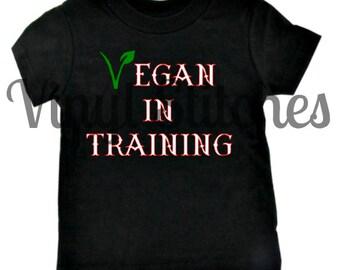 Vegan in Training Toddler t-shirt