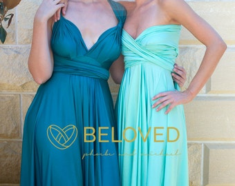 Convertible Infinity Dress Bridesmaid Dress Jade / Green