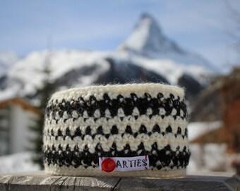 SALE! Schi Stirnband, Ohrenwärmer Headband, Bandeau, gutes haltbares Material. Winddicht durch  Polarfleece.  Earwarmer, crocheted.